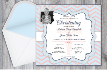 Child Christening Invitation