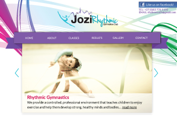 Jozi Rythmic Gymnastics Website